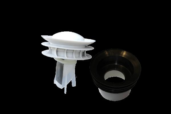 WaterSave Geruchsverschluss und Adapter Waterless