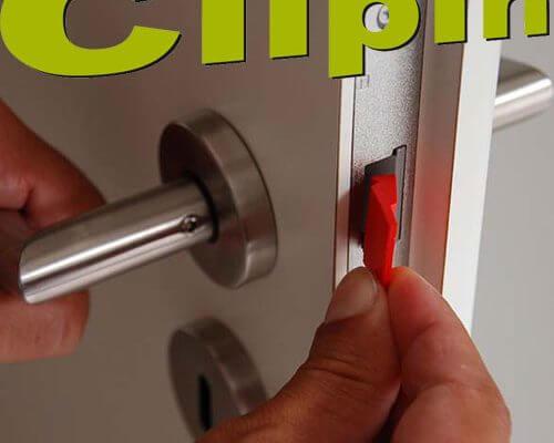 Logo ClipIn Türfalle Türdämpfer Türfallenclip