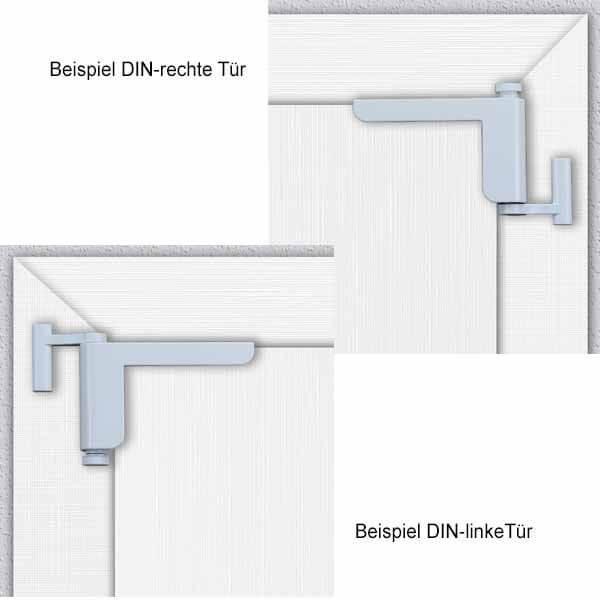 ClipClose TS Türschließer weiss Beispielmontage