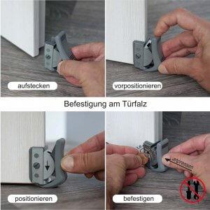 ClipFlix Tüerstopper Befestigung an der Zimmertür