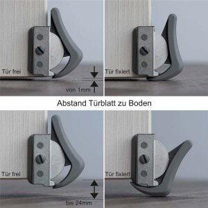für Zimmertüren Bodenabstand 1mm bis 24mm