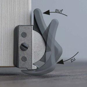 ClipFlix Türstopper Türfixierer Funktions Stellungen