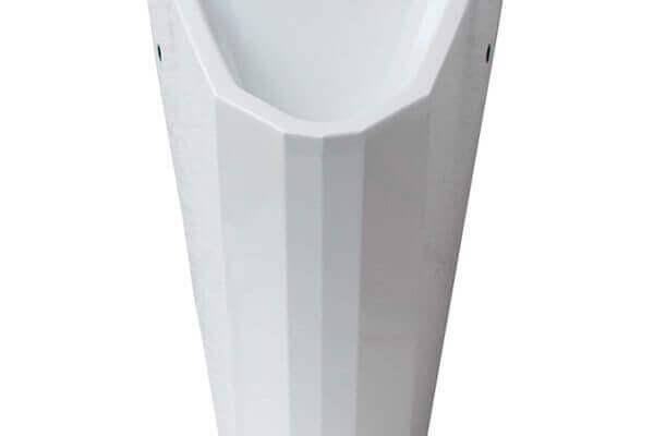 Edelstahl Urinal ExpliCit Color RAL 9003 Reinweiß wasserlos