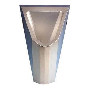 Edelstahl Urinal ExpliCit wasserlos glasgestrahlt Frontansicht