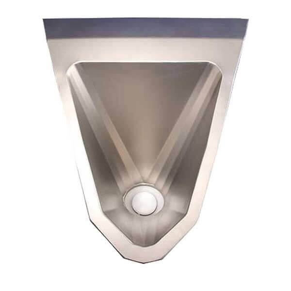 Edelstahl Urinal ExpliCit wasserlos glasgestrahlt Ansicht von oben