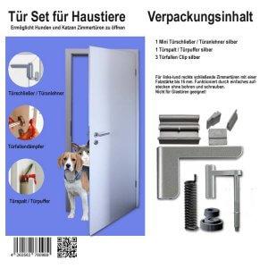 Bild Tür Set für Haustiere Verpackung und Inhalt
